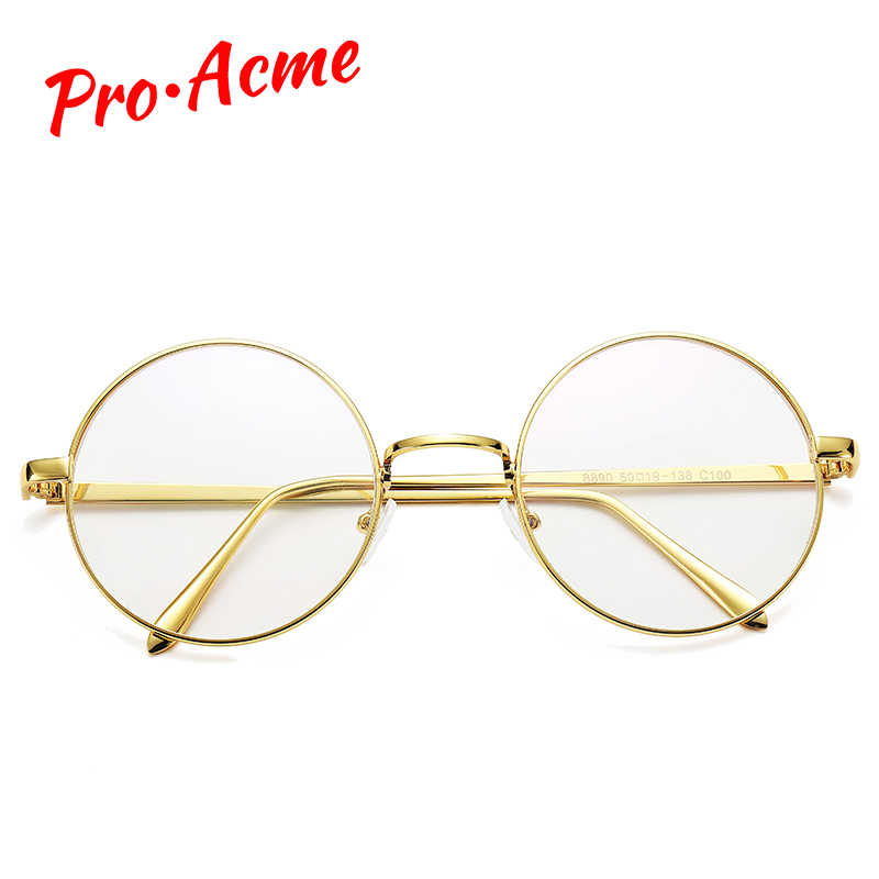 0754b4548564 ... Pro Acme Retro Round Glasses Frame Mens Womens Nerd Glasses Transparent  Clear Lens Eyewear Unisex Optical ...