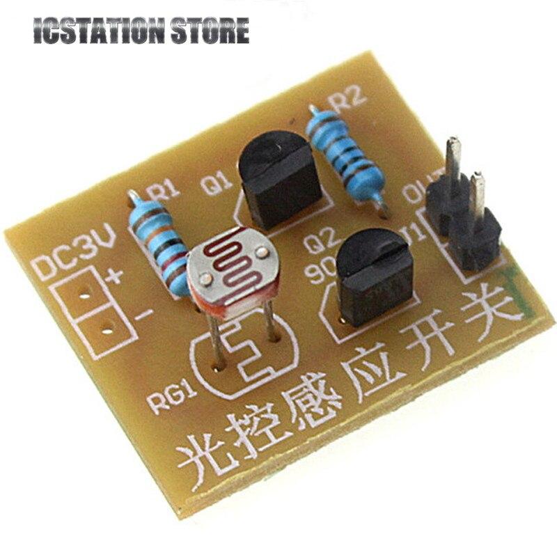 5pcs DIY Kit Light Control Sensor Switch Suite Photosensitive Induction Switch Kits DIY Electronic Trainning Integrated Circuit бесплатная доставка diy kit tps71550qdckrq1 ic reg ldo 5 в 50ma sc70 5 71550 tps71550 10 шт