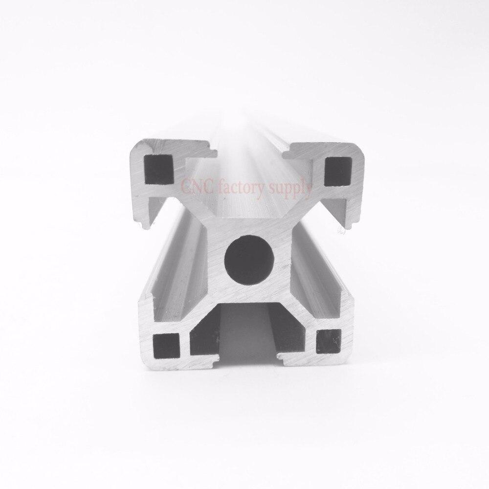 цена на HOT Sale CNC 3D Printer Parts European Standard Anodized Linear Rail Aluminum Profile Extrusion 3030 for DIY 3D printer
