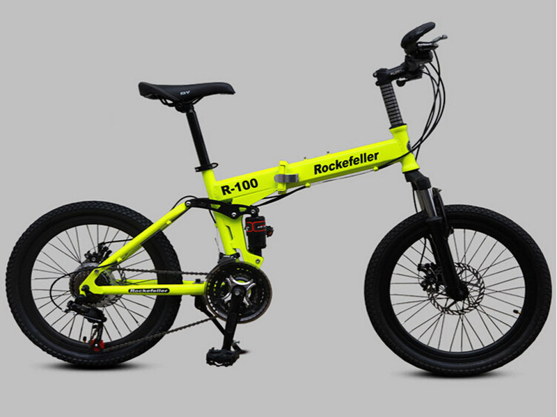 d15b19ce51a 20 inch 21-speed bicicleta folding mountain bike Rockefeller small full  suspension folding bicycle double disc for people