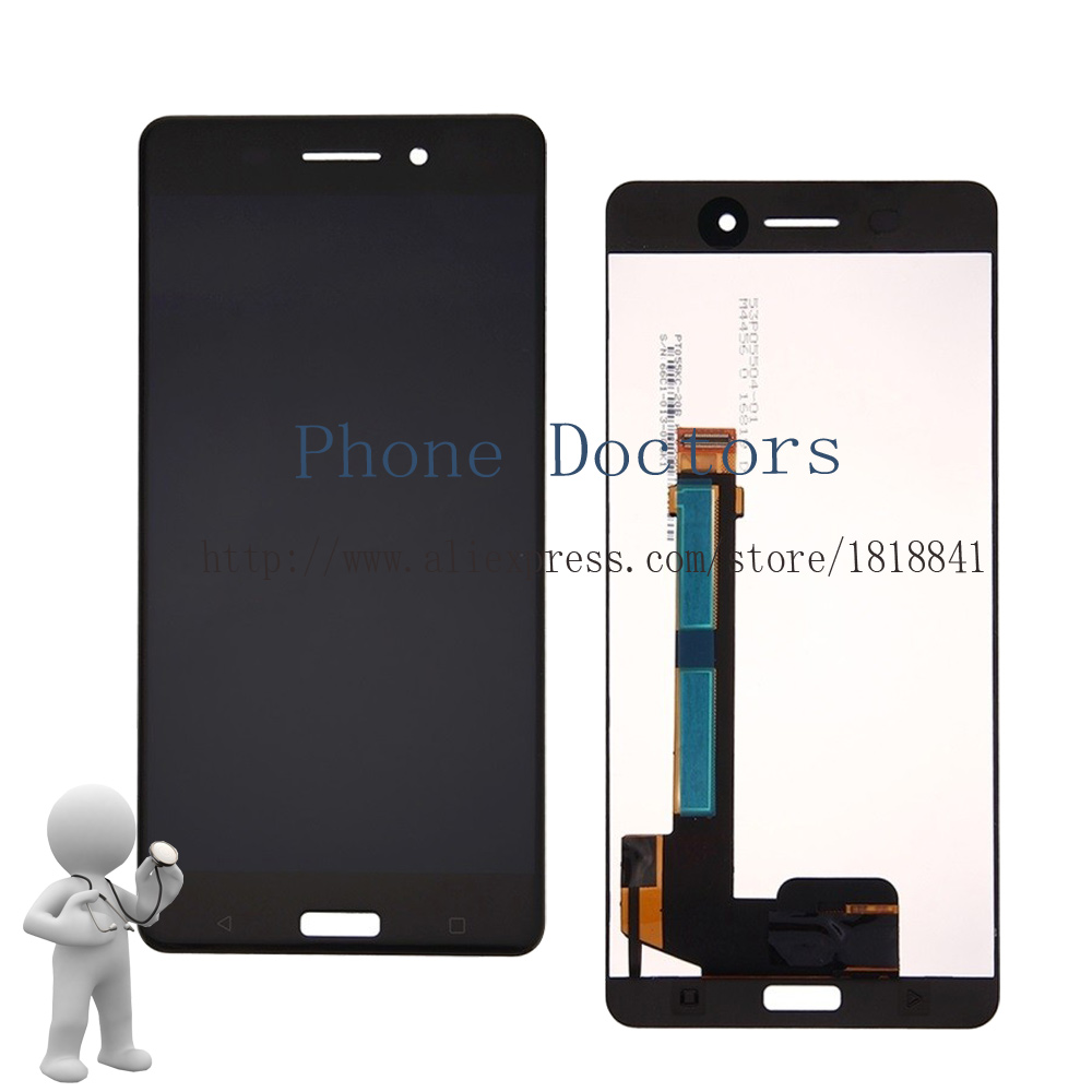 "5.5"" Full LCD DIsplay+Touch Screen Digitizer Assembly For Nokia 6 N6 TA-1000 TA-1003 TA-1033 TA-1025 New ; Black ; 100% Tested"