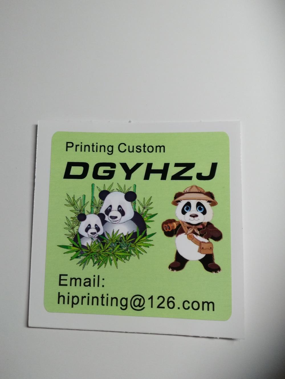 30x19cm vinyl sticker 200pcs custom