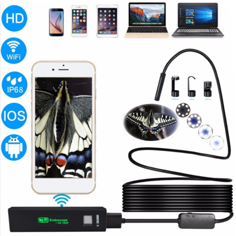 Antscope WIFI 1200P HD Waterproof endoscope camera Soft wire Borescope Camera Wifi Endoscope Camera And 7mm usb endoscope 19