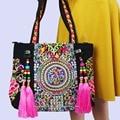 2-usage Hmong Tribal Ethnic Thai Indiano Boho Do Vintage ombro saco saco do mensageiro bolsa bolsa hobo tote bag bordado, SYS-520