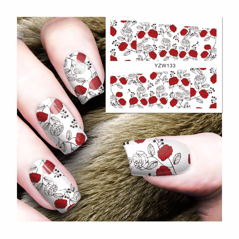 Stickers & Decals Strict Yzwle Nail Art Sticker Water Transfer Decal Dream Catcher Feather Design For Nail Watermark Polish Tattoos Sliders Grade Products According To Quality