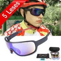 Gafas de sol polarizadas NEWBOLER de 5 lentes para ciclismo para hombre y mujer UV400