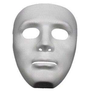 Image 1 - ליל כל הקדושים המפלגה DIY מפחיד מסכות לבן מלא פנים קוספליי מסכות פנטומימת מסכת מסכות כדור מסיבת תחפושות