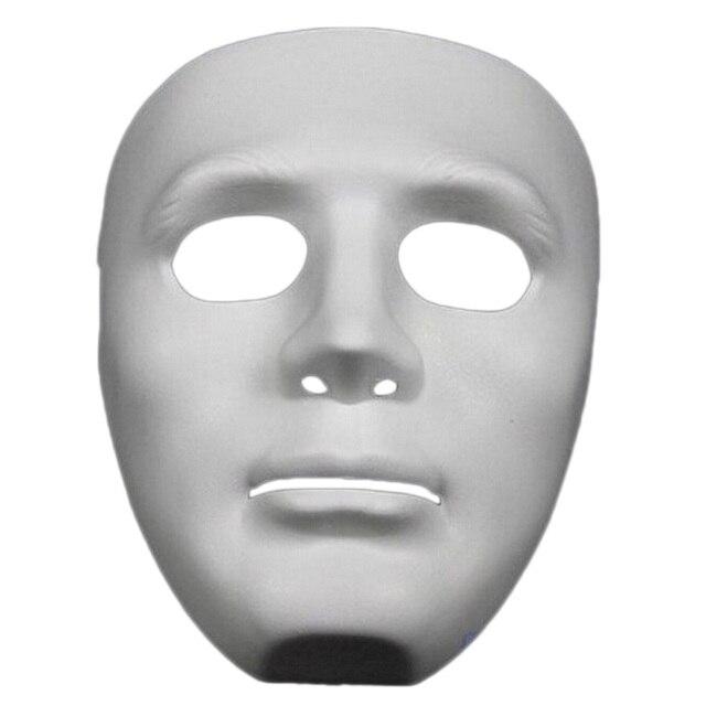 ליל כל הקדושים המפלגה DIY מפחיד מסכות לבן מלא פנים קוספליי מסכות פנטומימת מסכת מסכות כדור מסיבת תחפושות