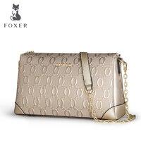 Fashion Luxury Tote Handbags Women Crossbody Bags Foxer Genuine Leather Shoulder Bag