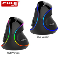 CHYI Wired Vertical Mouse Ergonomic 800 1200 1600 2400 4000 DPI RGB Backlit Blue Backlight Optical