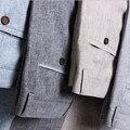 2016 мужчины лето белье свободного покроя брюки стрейч лен хлопка свободного покроя брюки размер 28 - 40 мужская одежда