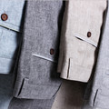 2016 hombres Summer Linen pantalones casuales elástico de lino de algodón pantalones casuales tamaño 28-40 ropa hombre