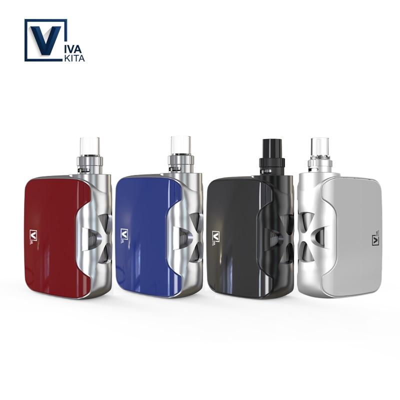 Vape KIT 50 watt elektronische zigarette Fusion box mod 1500 mah verdampfer Gebaut in Batterie Nachfüllbar dampf spule 0.25ohm tasche vape