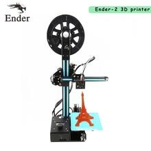 2017 Высокая точность принтер 3D Ender-2 мини 3D принтер DIY Kit RepRap Prusa i3 металлический каркас с нитями + ЖК-дисплей Экран + 8 г SD карты