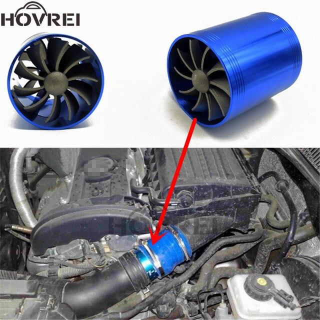 300zx Turbo Fuel Air: Car Double Dual Turbo Air Intake Turbine Gas Fuel Saver