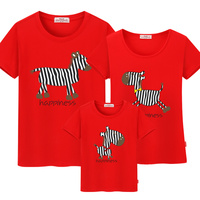 Quality Assurance 100 Cotton 2016 Summer Family Matching Clothes Casual T Shirts Mother Daughter Dresses Mother