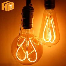 Novelty LED Bulb Light AC220V 4W E27 ST64 G95 Love Heart Spiral Filament Edison Bulb Lamp Retro Decoration Lighting cheap Hunta CN(Origin) Warm White (2700-3500K) 3W High Power living room 250 - 499 Lumens Other Bubble Ball Bulb Epistar ROHS