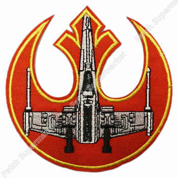"""4 \""""ดาวสงครามกบฏโลโก้ที่มีX-wing Luke S Kywalkerทีวีภาพยนตร์เคลื่อนไหวเครื่องแต่งกายปักสัญลักษณ์appliqueเหล็กบนแพทช์ - SALE ITEM บ้านและสวน"""