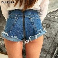 Dulzura Meisjes Dames sexy jeans Shorts Casual Hoge Waisted Mini Ripped Jeans Shorts Vrouwen 2018 lente Zomer rits korte