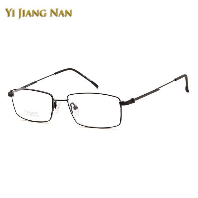 2fe7c1510e Yi Jiang Nan Brand Top Quality Pure Titanium Super Light Eyeglasses Men  Fashion Office Work Optical Glasses Frame Women Eyewear