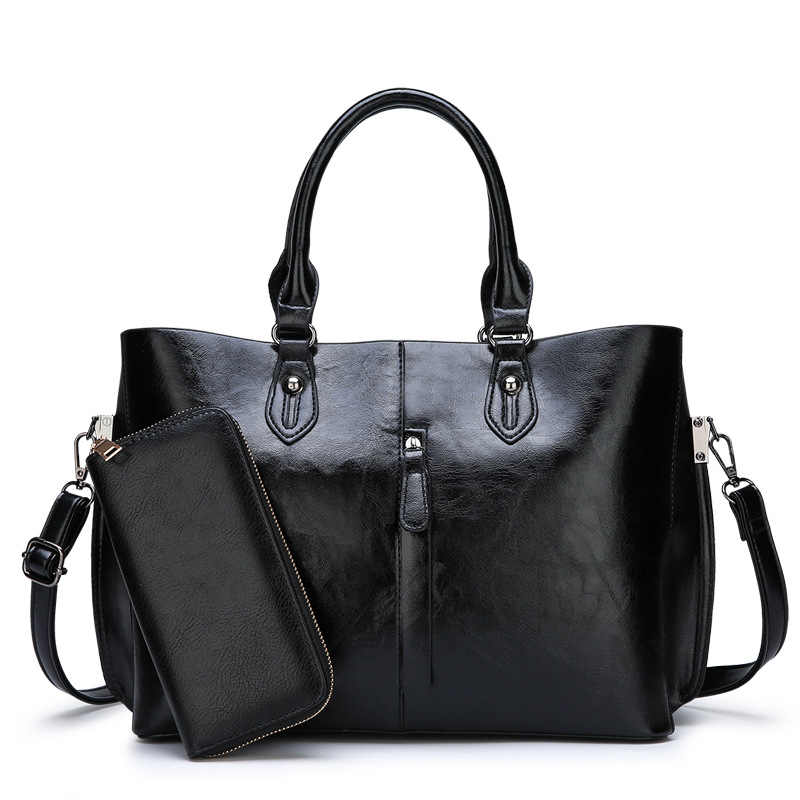 Genuine Leather Bag Handbags 2019 New Simple style Soft Leather Shoulder Bag Fashion Women Designer Large Capacity Handbags C821