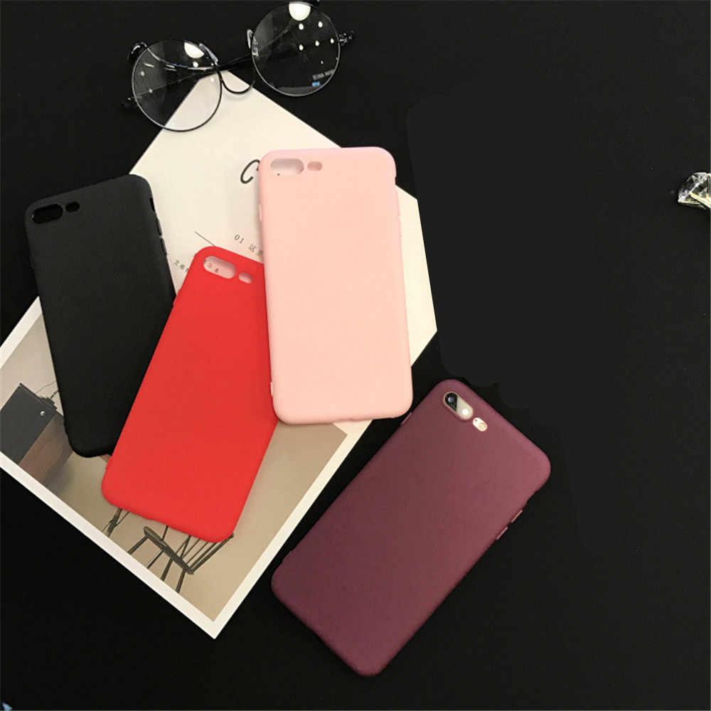 Funda suave de caramelo para Iphone 6 S 6 S mujeres Funda para Iphone 7 plus 8 plus x xs max 7 7 plus 6 6 s 5 5 5SE SE casos para Iphone XR
