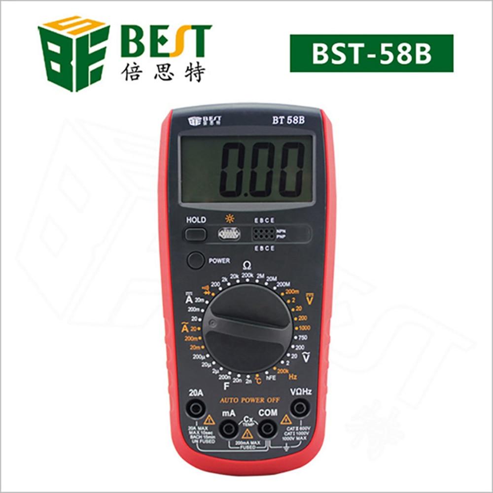 Automatic Range Digital Multimeter Ammeter Voltmeter DC/AC Resistor Ohm Voltage Multi Meter Tester Electrical Instruments