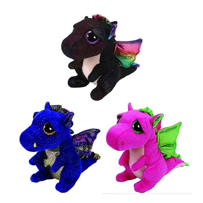"6 ""TY Boo Gorro de DRAGÕES (Anora, Darla & Saffire) 15 centímetros Big Glitter Eye Plush Stuffed Animal Toy Collectible Presente de Natal"