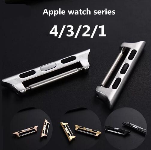 100pair Connector Adapter For Apple watch 4 44mm 40mm 42mm 38mm Metal Aluminum Watchband Linker iwatch
