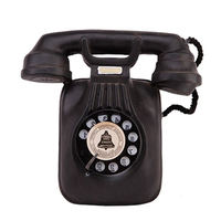 Vintage Telephone Model Ornaments Wall Hanging Retro Nostalgic Crafts Home Furniture Phone Miniature Figurines Decoration Gifts