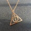 Colar-Luna Harry Potter e As Relíquias da morte Colar Retro Camisola Cadeia Colar de Pingente de Triângulo