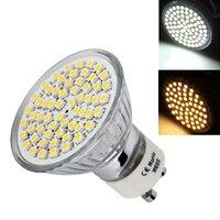 3/4/5W LED Light Bulb GU10 3528 SMD 60/72/80 Leds Spotlight Lamp for Home Office Studio Exhibition JDH99