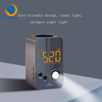 Night Light Bluetooth Audio Wake Up alarm clock Radio Portable Travel Desk Clock LED Smart Digital Alarm Clock Touch Dimming