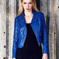 2016 New Autumn Fashion Street Women's Short Washed PU Leather Jacket Zipper 3 Colors New Ladies Basic Jackets Quality Good