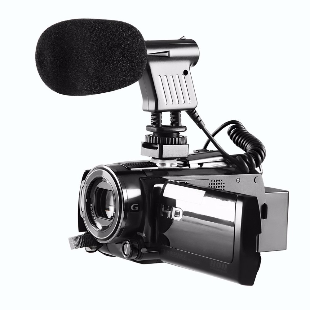 BOYA BY-VM01 3.5mm Video Broadcast Directional Condenser Microphone For Nikon For Canon For Sony Recording DSLR Cameras boya by a01 3 5mm omni directional recording condenser microphone for iphone ipad silver