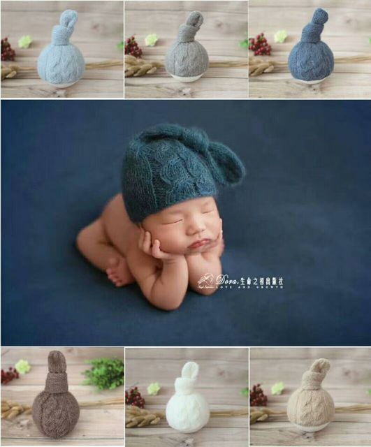 Tricot Nouveau-Né Bébé Noeud bonnet Bébé Fille Chapeau Au Crochet Nouveau-Né  Garçon 56b151c05ad