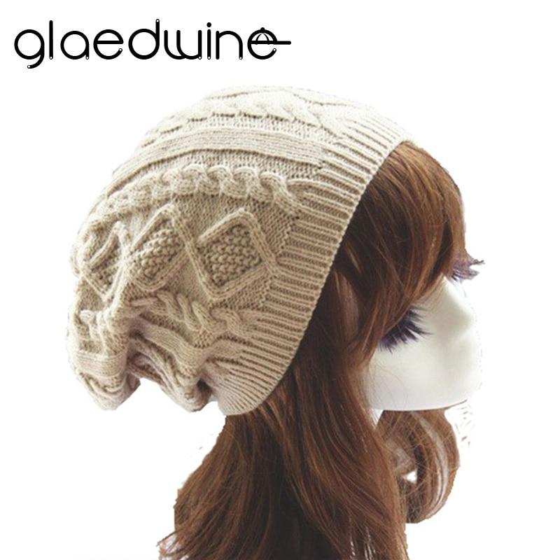 Glaedwine Womens Fall Fashion Hats Twist Pattern Beanies Winter Gorros for Female Knitted Warm Skullies Touca Chapeu Feminino fashion letter hats gorros bonnets cocain