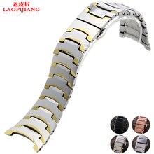 Reloj con alternativa rado 6027 stainless stee, pulsera de reloj con hebilla de mariposa y accesorios, correa para hombres y mujeres