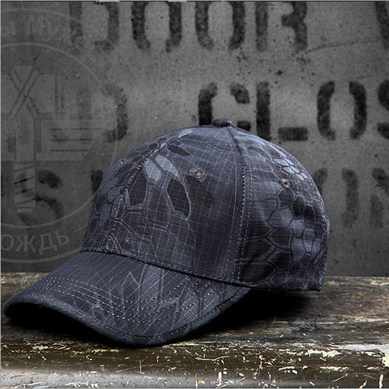New Camouflage Cap Men Sports Outdoor Rattlesnake Python Pattern Baseball Cap Army Fans