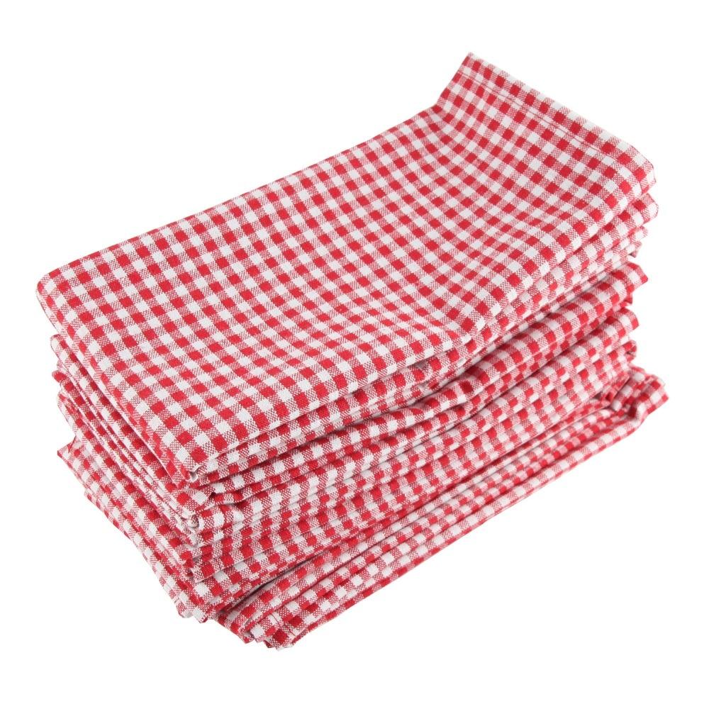 43 x 43cm cloth Napkins Set of 12pcs cotton linen heat insulation mat dining table mat children ...