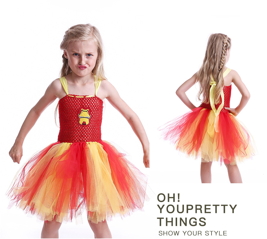 Iron Man Girls Tutu Dress Cartoon Baby Gril Halloween Cosplay Party Dress Handmade Fancy Superhero Inspired (7)
