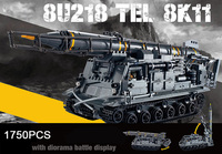 Hot Modern Military 8U218 TEL 8K11 Missile Tank Moc Building Block Model Bricks Army Figures Toys Collection for Adult Kids Gift