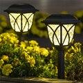 6 шт/лот Солнечная энергия садовая лужайка лампа Легкая установка прочный Двор украшение водонепроницаемый черный пейзаж светильник уличн...