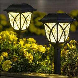 Lâmpada led 6 pçs/lote de energia solar, fácil de instalar, durável, decoração de quintal, à prova d' água, preta, para paisagem, para áreas externas