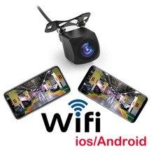 Mini cámara de visión trasera para coche, Wifi, HD, visión nocturna, cámara de marcha atrás de coche, impermeable, con Cable de vídeo de 6m