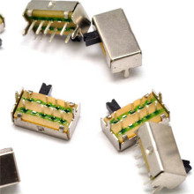 10PCS SK-23D07VG4 3 Position 2P3T PCB Panel Angle Horizontal Slide Power Toggle Switch