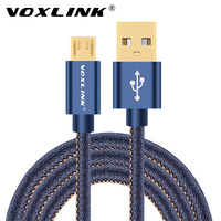 VOXLINK Micro USB Cable Denim Braided Fast Charger & Data Cable For Samsung Huawei Xiaomi Android Mobile Phone USB Charger Cable