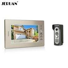 Sperakerphone JERUAN Новый 7 дюймов цветной экран видео домофон домофон 1 монитор + 700TVL COMS камеры БЕСПЛАТНАЯ ДОСТАВКА