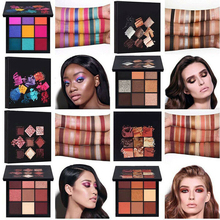 Beauty Glazed 9 Colors Eyeshadow Palette Smoked Shimmer Matte Eye Shadow Dish Diamond Glitter Waterproof Cosmetics