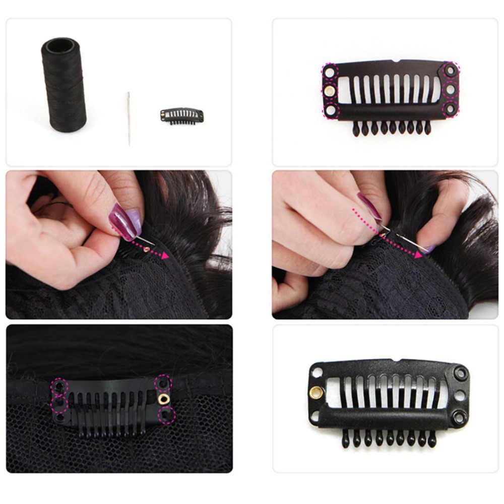 9 Зубы U Форма металла черные волосы оснастки гребень зажим для волос шиньон утка парик клипы невидимая фиксация контакты 6 шт./упак.